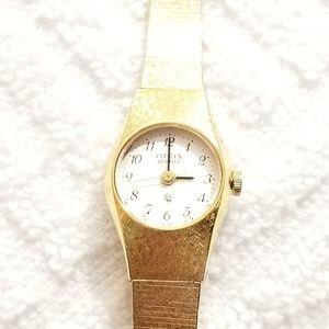 Vintage Citizen Gold Tone Watch Seven Jewels